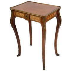 French Inlaid Side Table, 19th Century