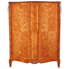 French Inlaid Two-Door Armoire
