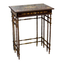 French Intarsiated Table from the 19th Century