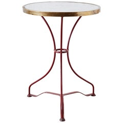 French Iron and Marble-Top Bistro Table