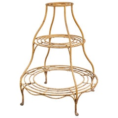French Iron Round Plant Stand
