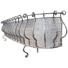 French Iron Scroll Work Window or Patio Planter with Curved Ends on Shaped Feet