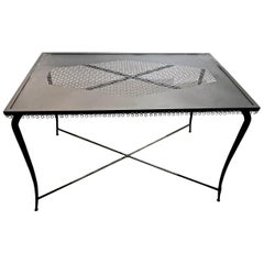 French Iron Table or Console, Midcentury