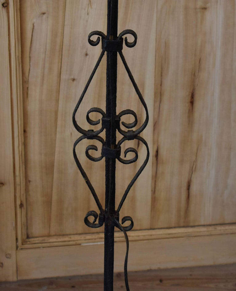 French Iron Torchiere Floor Lamp For Sale 4