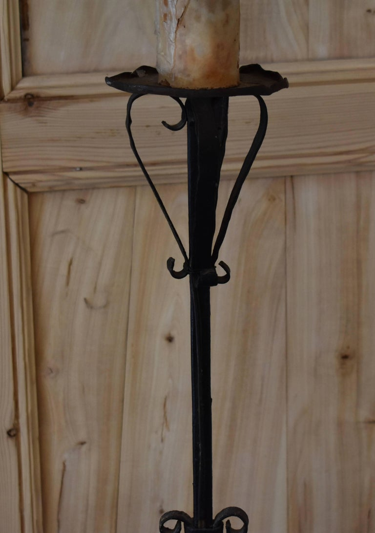French Iron Torchiere Floor Lamp For Sale 5