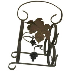 French Iron Wine Bottle Rack, circa 1950