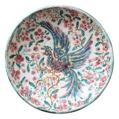 French Iznik-Inspired Ceramic Bowl by Édouard Cazaux, circa 1930s