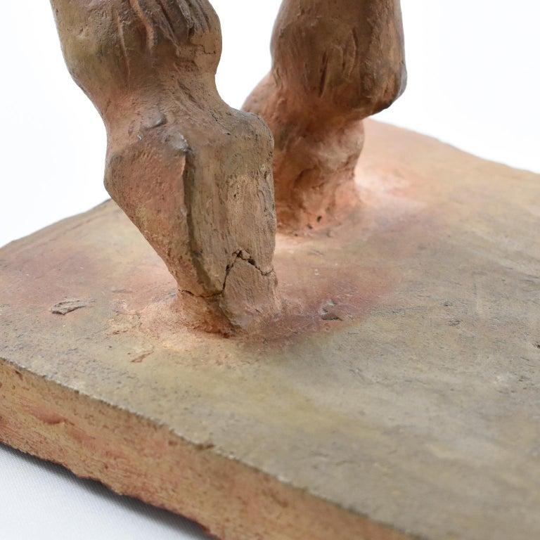 French J. de Monpesat 1940s Terracotta Horse Sculpture For Sale 11