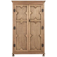 French Jacobian Style Two-Door Armoire
