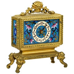 French Japonisme Ormolu and Cloisonne Mantel Clock Attributed to Edouard Lievre