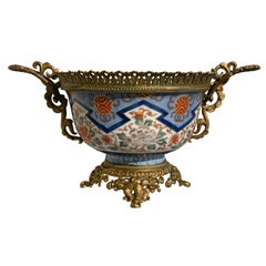 French Japonisme Ormolu Mounted Japanese Imari Bowl Centerpiece