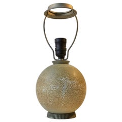 French Jean Besnard Style Craquelé Table Lamp, 1930s