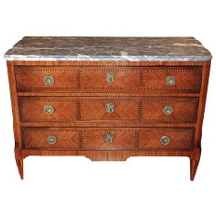 French Kingswood Transitional Inlaid Commode