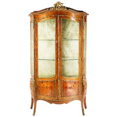 French Kingwood 19th Century Display Cabinet
