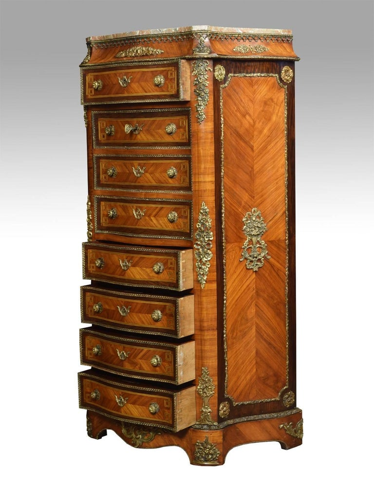 Louis XVI French Kingwood Secretaire a' Abbattant For Sale
