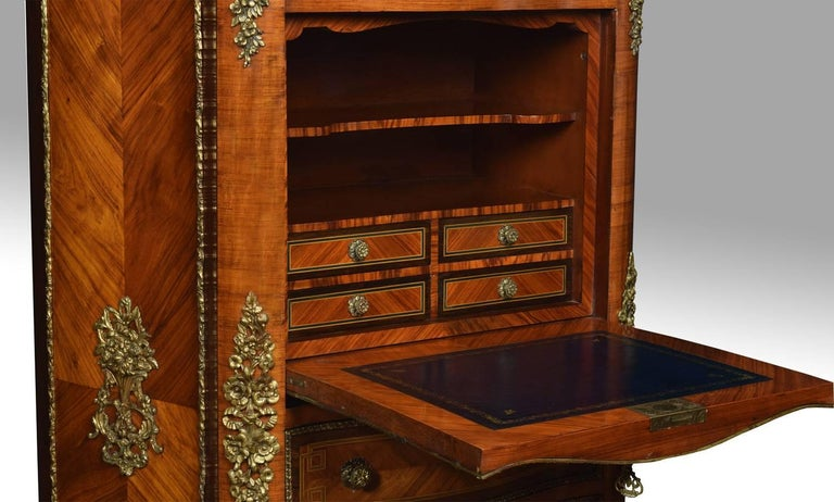 French Kingwood Secretaire a' Abbattant For Sale 3