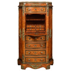 French Kingwood Secretaire a' Abbattant
