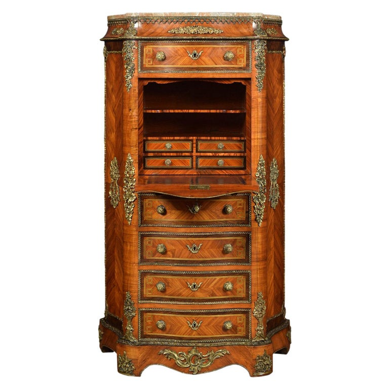 French Kingwood Secretaire a' Abbattant For Sale