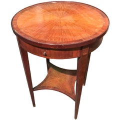 French Kingwood Single Drawer Side Table