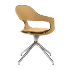 French Kiss High-Back Trestle-Based Chair by Stefano Bigi