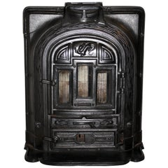 French La Salamandre Cast Iron Stove by F Chaboche and Company, circa 1920