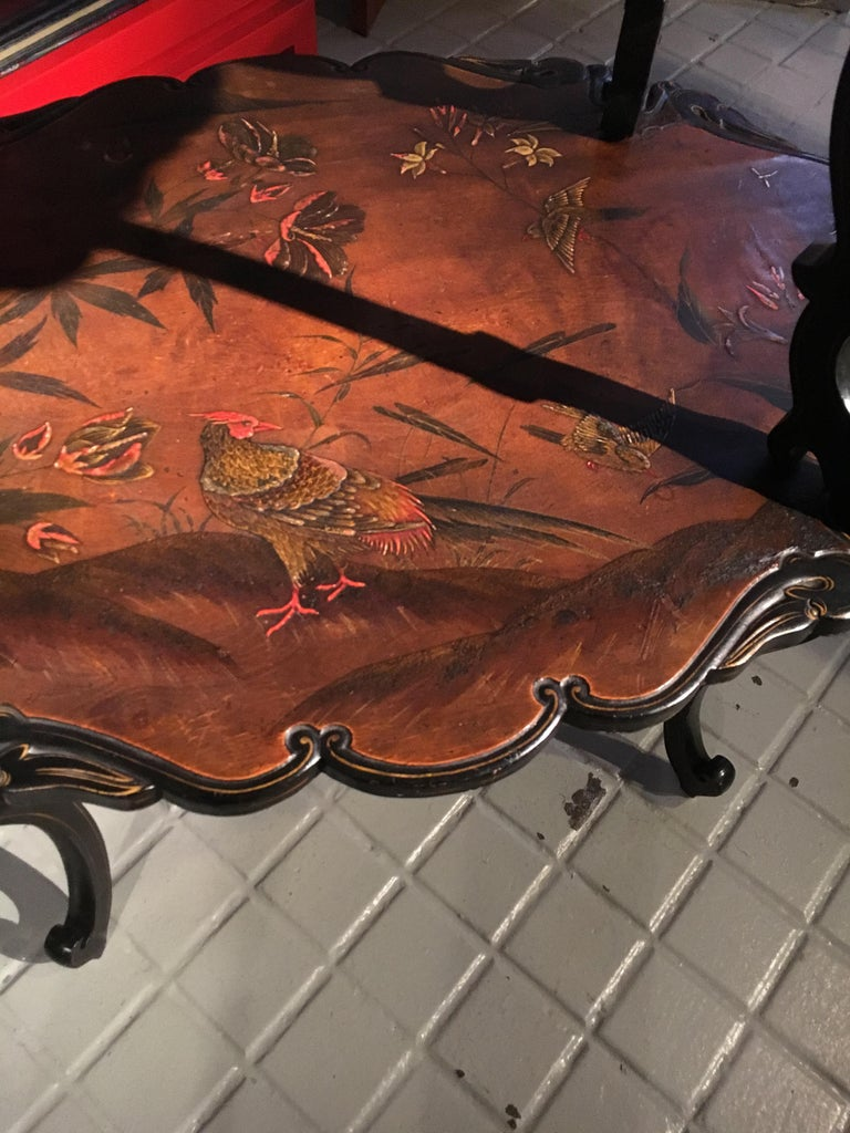 French Lacquered Two-Tier Table, circa 1880 For Sale 3