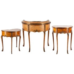 French Ladies Desk and Side Tables En-Suite, circa 1900
