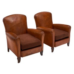 French Lambskin Club Chairs