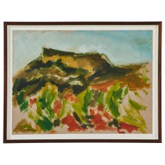 French Landscape Painting on Paper by Caroline Beauzon