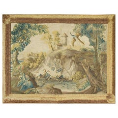 French Landscape Tapestry Probably Beauvais, circa 1750