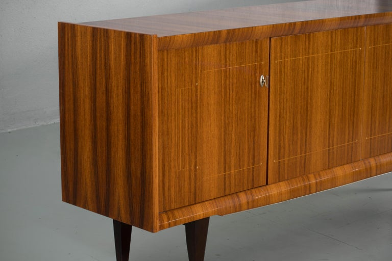 French Large Art Deco Sideboard Macassar, 1940s For Sale 6