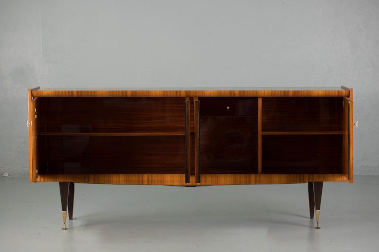 Mid-20th Century French Large Art Deco Sideboard Macassar, 1940s For Sale