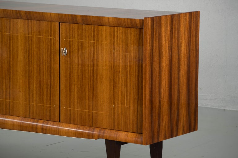 French Large Art Deco Sideboard Macassar, 1940s For Sale 5