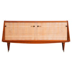 French Large Art Deco Sideboard Rosewood and Maple, 1940s