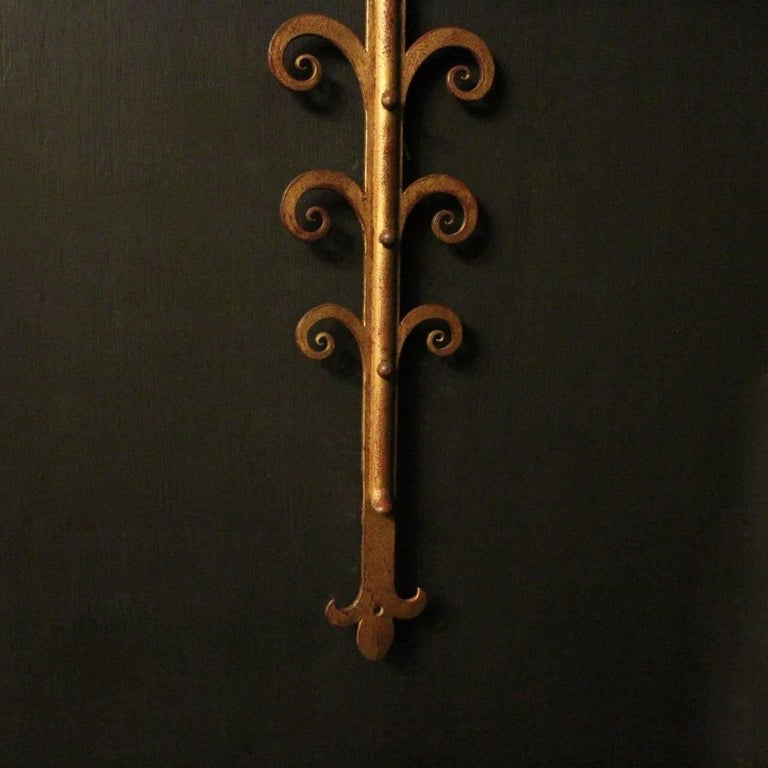 French Large Wrought Iron Antique Wall Lights For Sale 3