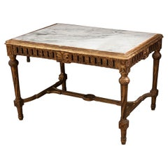 French Late 18th Century Louis XIV Style Giltwood Hall Table