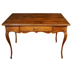 French Late 18th Century Louis XV Period Oak Desk or Table