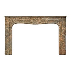 French Late 18th Century Louis XV Period Sarrancolin Marble Mantel