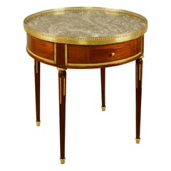 French Late 18th Century Louis XVI Mahogany and Gilt Bronze Bouillotte Table
