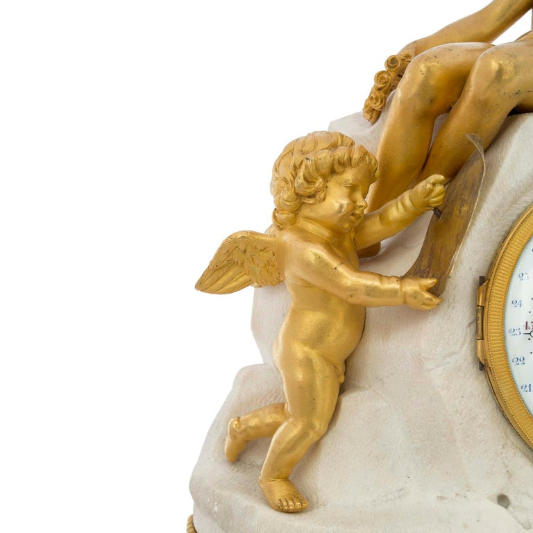 18th Century and Earlier French Late 18th Century Louis XVI Period Clock Signed Déliau For Sale