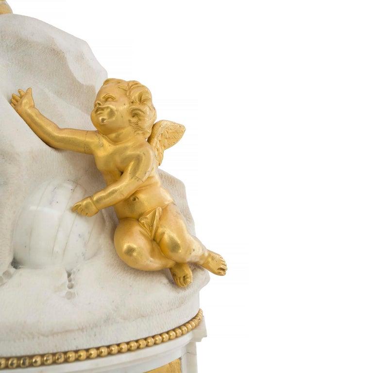 Ormolu French Late 18th Century Louis XVI Period Clock Signed Déliau For Sale