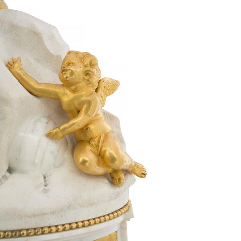French Late 18th Century Louis XVI Period Clock Signed Déliau For Sale 1