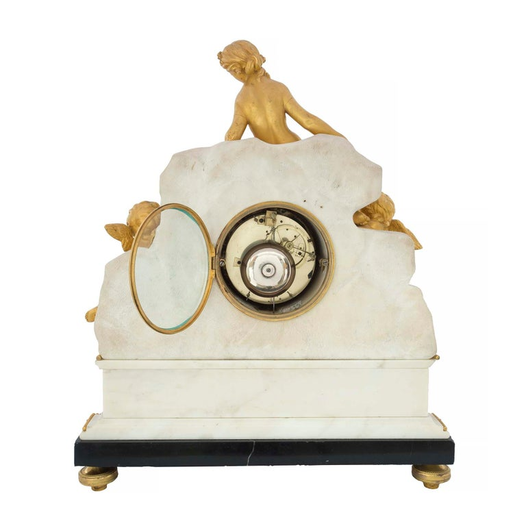 French Late 18th Century Louis XVI Period Clock Signed Déliau For Sale 3