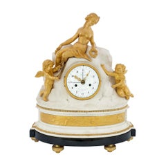 French Late 18th Century Louis XVI Period Clock Signed Déliau