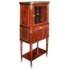 French Late 18th Century Louis XVI Period Mounted Cabinet Vitrine