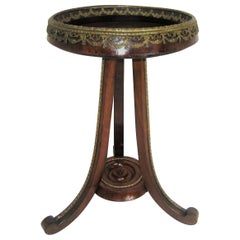French Late 19th Century Bronze Mounted Pedestal / Table /Plant Stand