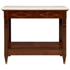 French Late 19th Century Directoire Style Mahogany Dessert Console