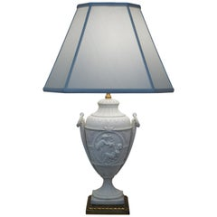 French Late 19th Century Electrified Bisque Urn Table Lamp