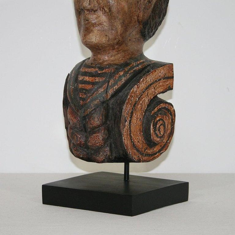 French Late 19th Century Folk Art Fair Ground Head For Sale 6