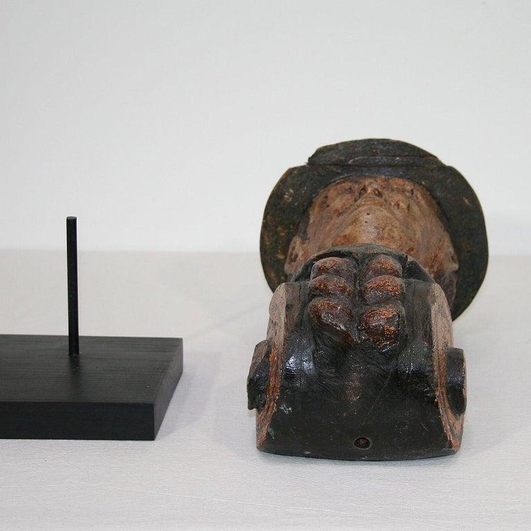 French Late 19th Century Folk Art Fair Ground Head For Sale 9